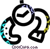 Vector Clip Art graphic  of a wristwatch