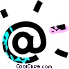 Vector Clipart graphic  of a @ key