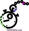 pocket watch Vector Clipart picture