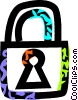 lock Vector Clipart graphic