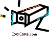 surveillance camera Vector Clip Art image
