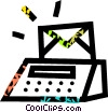 postage machine Vector Clip Art graphic