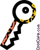 Vector Clipart graphic  of a key