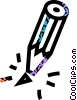 broken pencil Vector Clipart graphic