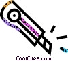 exacto knife Vector Clip Art graphic