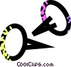 Vector Clip Art picture  of a thumbtacks