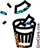 Vector Clipart illustration  of a waste paper basket