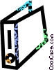 Vector Clip Art graphic  of a binder