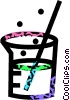 Vector Clipart image  of a beaker