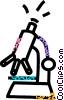 Vector Clip Art image  of a microscope