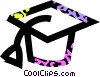 Vector Clip Art graphic  of a graduation cap