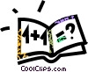 Vector Clipart illustration  of a math book