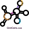 molecules Vector Clipart graphic