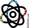 Vector Clip Art graphic  of an atom