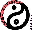 Vector Clipart picture  of a ying and yang