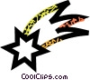 shooting star Vector Clipart illustration