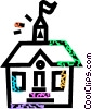 schoolhouse Vector Clipart graphic