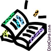 Vector Clip Art picture  of a school books