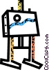 Vector Clipart graphic  of an artist's easel