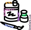 Art supplies Vector Clipart image