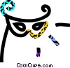 Vector Clip Art image  of a masquerade mask