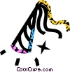 party hat Vector Clipart graphic