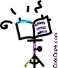 Vector Clipart illustration  of a music stand
