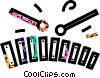 Vector Clip Art graphic  of a xylophone