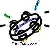 Vector Clip Art image  of a tambourine
