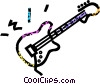electric guitar Vector Clip Art picture