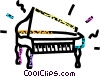 grand concert piano Vector Clipart illustration
