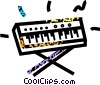 Vector Clipart image  of a keyboard