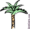 Vector Clip Art graphic  of a palm tree
