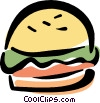 Vector Clipart illustration  of a hamburger