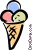 Vector Clipart picture  of a ice cream cone