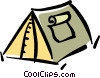 Vector Clip Art graphic  of a tent