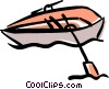 Vector Clipart picture  of a rowboat