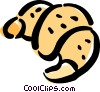 Vector Clipart picture  of a croissant