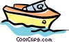 Vector Clipart illustration  of a speedboat