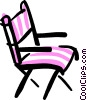 Vector Clipart graphic  of a director's chair