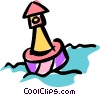 Vector Clipart image  of a buoy