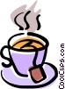 Vector Clip Art graphic  of a teacup