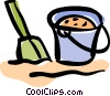 pail and shovel Vector Clipart illustration
