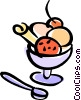Vector Clip Art image  of a ice cream sundae