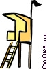 Vector Clipart illustration  of a lifeguard tower