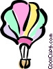 Vector Clip Art image  of a hot air balloon