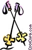 Vector Clipart picture  of a ski poles