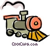 Vector Clipart graphic  of a trains