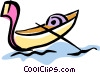 Vector Clipart picture  of a gondola