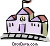 Vector Clipart image  of a school house
